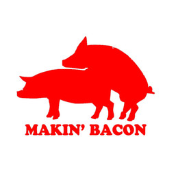 "Wholesale Sex Roof - ""Making Bacon""Lettering Art Pattern Funny Pig Make Love Sex Car Sticker for Truck SUV Motorcycles Laptop Vinyl Decal car-styling Jdm"