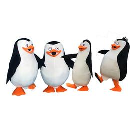 Madagascar trajes de mascote on-line-Pinguins de Madagascar Pinguim Mascot Costume Fancy Dress adult size