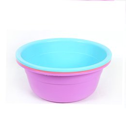 Wholesale Round Bowl Sink - Round Thickened Basin Laundry and Wash face Home Wash Basin Plastic Pots Children Bathroom Wash Basin Can be printed LOGO