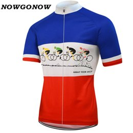 Wholesale Tour France Cycling Tops - Customized NEW Hot 2017 Tour De France mtb road RACE Team Bike Pro Cycling Jersey   Shirts & Tops Clothing Breathing Air JIASHUO