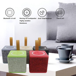 Wholesale Horn Subwoofer - NewRixing NR-1016 Fabric art Mini Portable Bluetooth Speaker 5W 3 Inch Horn Diaphragm Wireless Speakers Subwoofer Loudspeakers