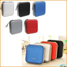Wholesale Dvd Casing - Wholesale CD DVD Holder (40 Disc) DJ Storage Cover Box Case Disc Organizer Carry Bag -5 Colors