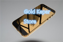 Wholesale Iphone Gold Middle Plate - Gold Mirror Gold Plated Frame Housing for Iphone 5 24ct Gold Battery Cover Back Bezel Middle Frame For Iphone 5g