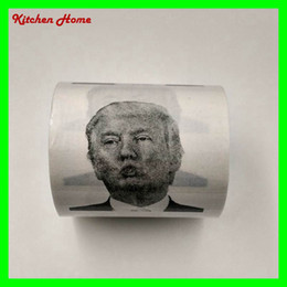Wholesale Paper Photo - Creative Toilet Paper with Donald Trump Photo Printing Gag Gifts 3 layer Toilet Paper with USA President Drawing