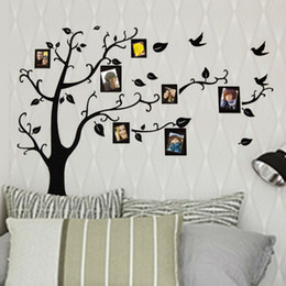 Wholesale Photo Adhesive Decal - Hot photo frame family tree wall stickers 2141. kids wall arts home decorations living room decals poster DIY