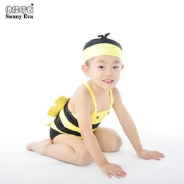 Wholesale Swimsuit Bee - sunny eva swimming suit for kids girl boys one piece mermaid bathing suit bee angel swim suits beach baby swimsuits girls