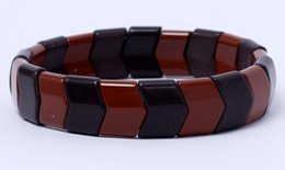 Wholesale Titanium Tourmaline Energy Bracelets - High Quality Tourmaline Bracelets with Health Care Energy Black Brown Trendy Hologram Bracelets for Men Health Care Bracelets