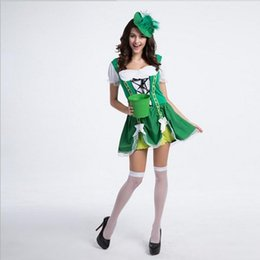Wholesale Sexy Waiter - New Arrival Waiter Serving Maid Women Dresses Green Sexy Cosplay Halloween Costumes Uniform Temptation Stage Performance Clothing