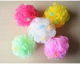 Wholesale Bath Shower Towel - 2017 High Quality Bath Ball Mitt Shower Towel Body Bubble Exfoliate Puff Sponge Mesh Net Ball Mesh Bath Sponge 30g