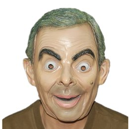 BRINQUEDO de alta qualidade New Mask Animal Face Head Party Máscara Mr Bean Máscara de Halloween de