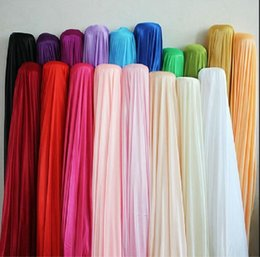 Wholesale Decoration Satin Cloth - Silk fabric wedding party backdrop decoration Width 150CM 59inch Satin Fabric Solid Color Cloth Performance Clothing Lining