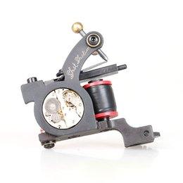 Wholesale Iron Handmade Tattoo - New Arrival Tattoo Gun Shader Handmade Cutting Machine Cast Iron Tattoo Machine TM2120