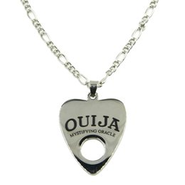 """Wholesale 14k Gold Body Chain - Wholesale- Fashion Stainless Steel Ouija Pendant Necklace Body Jewelry with 24"""" Chain"""