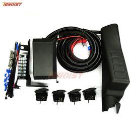 adaptador de coche de alto voltaje Rebajas Sistema de relé electrónico 6 de uso fácil de alta calidad con un pilar A y botón de interruptor 4 para Wrangler JK Todo en una solución de alambre 12V 24V