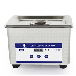 Wholesale Mini Ultrasound Machine - Digital Ultrasonic Cleaning Transducer Baskets Jewelry Watches Dental CD 0.8L 35W 40kHz Ultrasound Cleaner Mini Ultrasonic Cleaning Machine