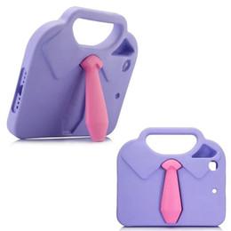 Wholesale Ipad Rubber Case Pink - 3D Necktie Kids Rubber Shock Resistant Handle Tie Kickstand Design Case EVA Shockproof Stand Shell Cover Case for iPad Mini 4 3 2 1 Coque