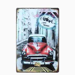 Wholesale Wholesale Plaques - [ Cuba ] Vintage Home Decor Tin Signs Shabby Chic Plaque Metal Decorative Vintage Metal Sign Placas Decorativas De Metal 20170414#