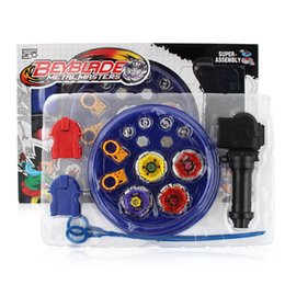Wholesale Beyblade Metal Fusion Arena - 4pcs set Beyblade Arena Spinning Top Metal Fight Beyblad Beyblade Metal Fusion Children Gifts Classic Toys