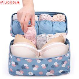 Wholesale Grey Lingerie - Wholesale- PLEEGA Brand Makeup Bag Travel Bra Underwear Lingerie Organizer Bag Cosmetic Daily Supplies Toiletries Storage Bra Bag