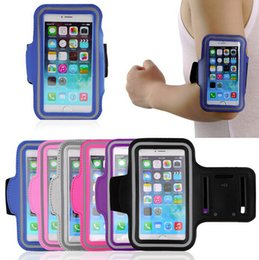 Wholesale leather arm pouch - For Iphone 6 Waterproof Sports Running Case Armband Running bag Workout Armband Holder Pounch For iphone Cell Mobile Phone Arm Bag Band