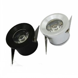 Wholesale Free Kitchen Cabinet - 3W Mini led cabinet light AC85-265V mini led spot downlight include led drive CE ROHS ceiling lamp mini light FREE SHIPPING MYY