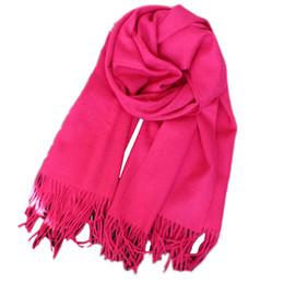 Argentina 2018 chal de bufanda de lana pura de gama alta doble engrosamiento 70 * 200 CM cuidado manta de lana caliente rojo rosa verde negro Suministro