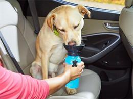 Wholesale Wholesale Plastic Travel Mugs - 5pcs Useful Auto Dog Mug Puppy Travel Walking Hiking Water Bottle Dispenser Feeder Dog Cat Drinking Bottle G042
