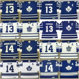 Маты sundin онлайн-Торонто Клен Лифс Джерси 13 MATS SUNDIN 1995 14 DAVE ANDREYCHUK 16 DARCY TUCKER 16 MIKE WALTON Custom Vintage Throwback Хоккейные Jerseys