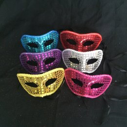 Wholesale Assorted Sequins - Venetian Masquerade Women & Girls Lace Sequins Mask for Party Costume Christmas Holloween Assorted Colors One Size Suitable for Most