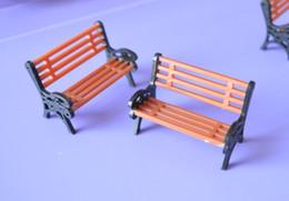 Wholesale Ho Landscaping Wholesalers - Wholesale- 1:150 HO Scale Park Garden Bench Model Landscape Scenery abs plastic model chairs