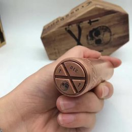 Wholesale Style Connections - Deathwish Mech Mod Crossbones Style MOD with brass & copper material with hybrid connection 26mm fast shipping via DHL