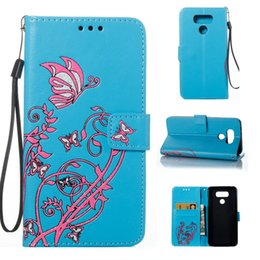 Wholesale Leather Flowers For Sale - For LG G6 case Hot sale Wholesale and Retail Fashion Colorful Butterfly Flowers Flip Leather Wallet Case