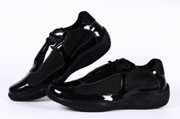 Wholesale Casual Shoes For Girls - New Arrival Women Casual Comfort Shoes Athletic Shoes Girls Patent Leather with Mesh Breathable Shoes For Lady Black Color 36-41