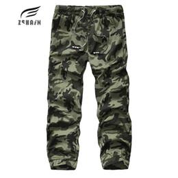 Wholesale Wholesale Camo Trousers - Wholesale- New Autumn High Quality Men'S Cargo Pants Camouflage pants Cotton Trousers For Men Comfortable Casual Long Pants Camo Jogger