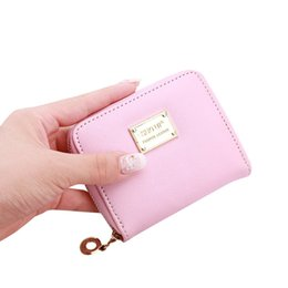 Wholesale Cute Zip Wallets - Wholesale- Cute Women's Wallet Leather Small Wallet Fashion Credit Card Holder Zip Coin Purse Clutch Handbags Mini Money Bag Hot Sale