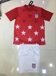 Wholesale National Soccer Jersey Wholesale - 2017 2018 10set lot USA Soccer Jerseys Thailand Quality fans American National Team 2017 Gold Cup United States DEMPSEY DONOVAN BRADLEY PULI