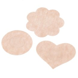 Wholesale Petals Dhl - Free DHL Shipping 24,000pcs Womens Sexy Disposable Cubrepezon Nipple Cover Patch Breast Nipple Pad Petals Sin bra (10pcs=5pairs pack)