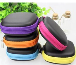 Wholesale Earbud Cases - New Earphone Headphone Earbud Carrying Storage Bag box Pouch Hard Case for LG iphone 6 5c 4 Samsung galaxy s4 S5 MIUI Xiaomi digital cable