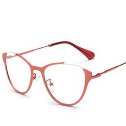 3cd7722e4aa Wholesale- Cat s Eye Myopia Glasses frame Vintage Women Men Eyeglasses  armacao oculos de grau Fashion Retro Brand New Designer