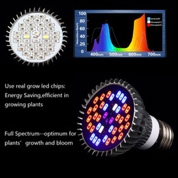 Wholesale Led Lights Vegetables - 220V 110V 28W 30W 50W 80W E27 Led Grow light Lamp For Plants Vegetables Full Spectrum Plant light Hydroponic System Bloom