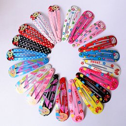 Wholesale Wholesale Hair Plastic Snaps - Wholesale- Wholesale 10 PCS per Lot Carton Candy Color Baby Girls Hairpin 5cm BB Clips Snap Band Hairpins Toddler Kids Hair Accessories