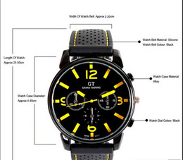 Wholesale Racing Sports Watches For Men - Fashion GT F1 Racing car silicone watch unisex men women quartz amry sport jelly Military outdoor silicone wrist watches for men