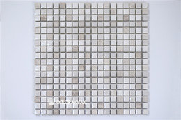 Wholesale Bathroom Marble Walls - ceramic and marble mosaic tile for bathroom and kitchen decoration wall tile floor tile 4 square meters per lot CM1107
