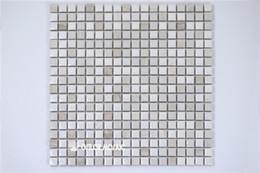 Wholesale Ceramic Tiles For Bathroom Walls - ceramic and marble mosaic tile for bathroom and kitchen decoration wall tile floor tile 4 square meters per lot CM1107