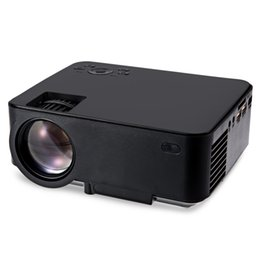 Wholesale M1 Hdmi - Wholesale- Newest RUISHIDA M1 Portable Projector 800x480 Pixels 1500Lumens LCD Projector Multi-inputs HDMI VGA AV  SD USB Proyector Beamer