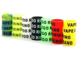 Wholesale Ego Coloful Battery - 13mm Non-slip eGo Silicone Ring Anti Slip Vape Bands Coloful Rubber Rings for EGO-T EVOD EGO Twist Vision Spinner Battery DHL