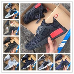 Wholesale Camo For Women - Wholesale Cheap New High Quality Kids Men Women original NMD XR1 Glitch Black White Blue Camo Runing Shoes For men sports shoe size 36-45