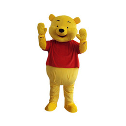 Wholesale Pooh Mascot Costumes - Mascot Costume Winnie The Pooh Cartoon Clothing Adult Size Bear+free shipping