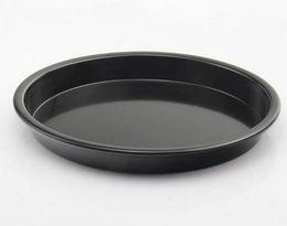 Wholesale Wholesale Aluminum Pie Pans - 5pcs lot, 10 Inch Non Stick Baking Mould round Pizza Pan or Oven Dish Pie Pan