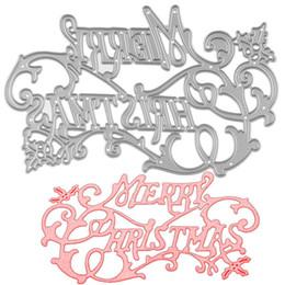 Wholesale Metal Albums - Merry Christmas DIY Metal Cutting Dies Stencil Scrapbook Card Album Paper Embossing Crafts